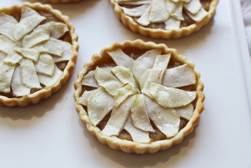 Mini apple and whiskey tarts