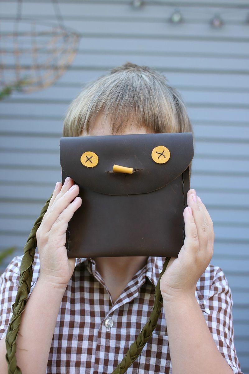 Leather Kids' Pouches DIY abeautifulmess.com