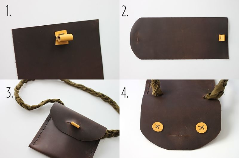 Leather Pouches For Kids Diy A Beautiful Mess