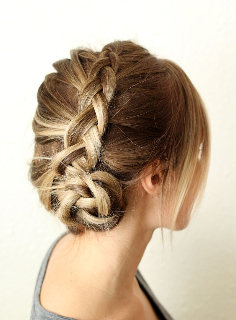 How to Style a Simple Dutch Braid abeautifulmess.com