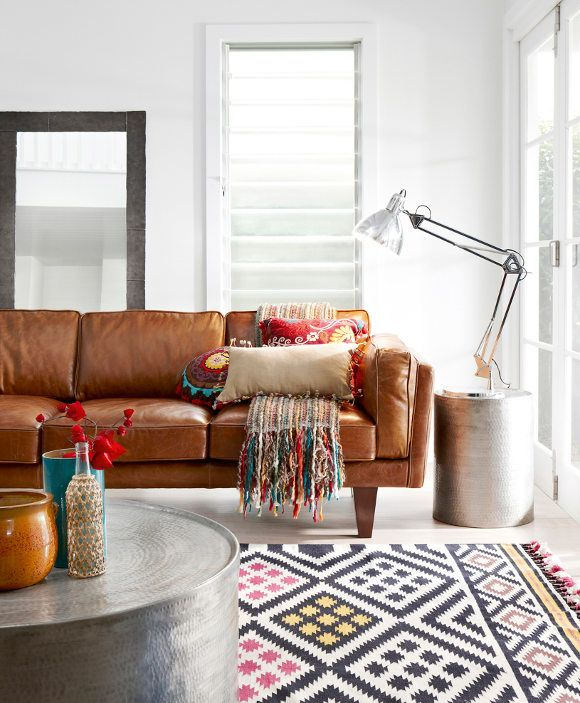 brown leather couch living room. Leather couch crush  ABM Studio The Living Room Before A Beautiful Mess