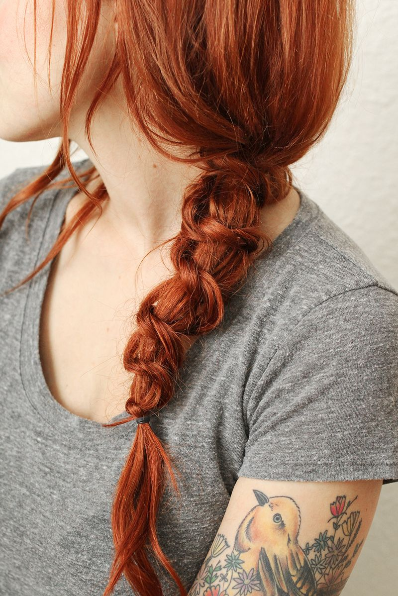 best way to style hair how to style a simple knot braid a beautiful mess 8474