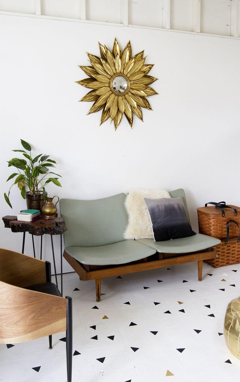 Painted Floor DIY abeautifulmess.com