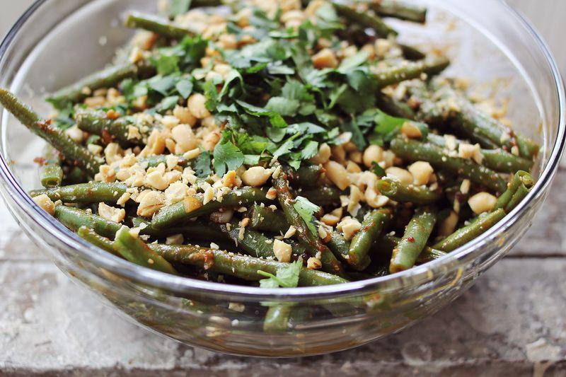 Thai Style Green Beans abeautifulmess.com
