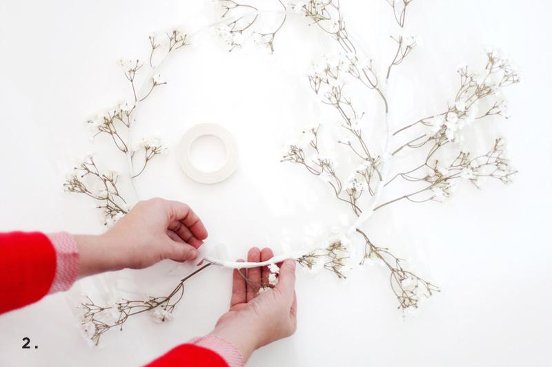 white winter wreath DIY