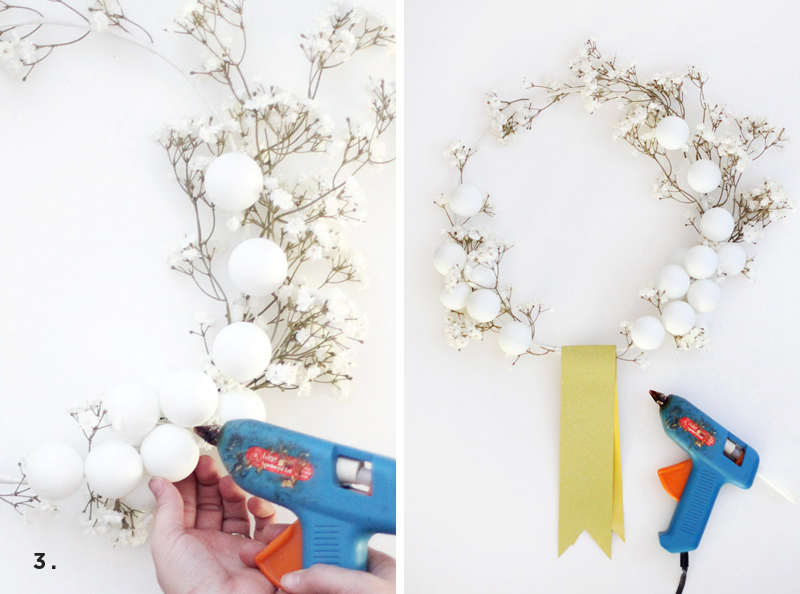 white winter wreath DIY