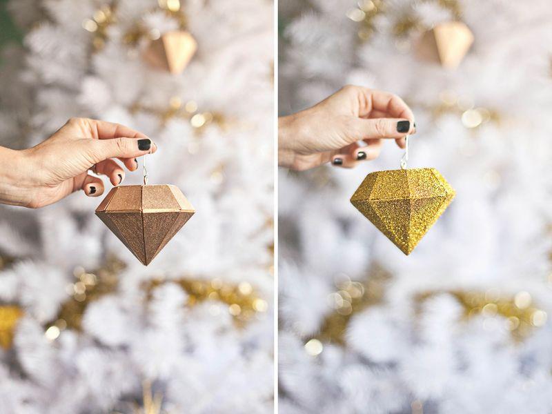 Diamond ornament diy abeautifulmess.com