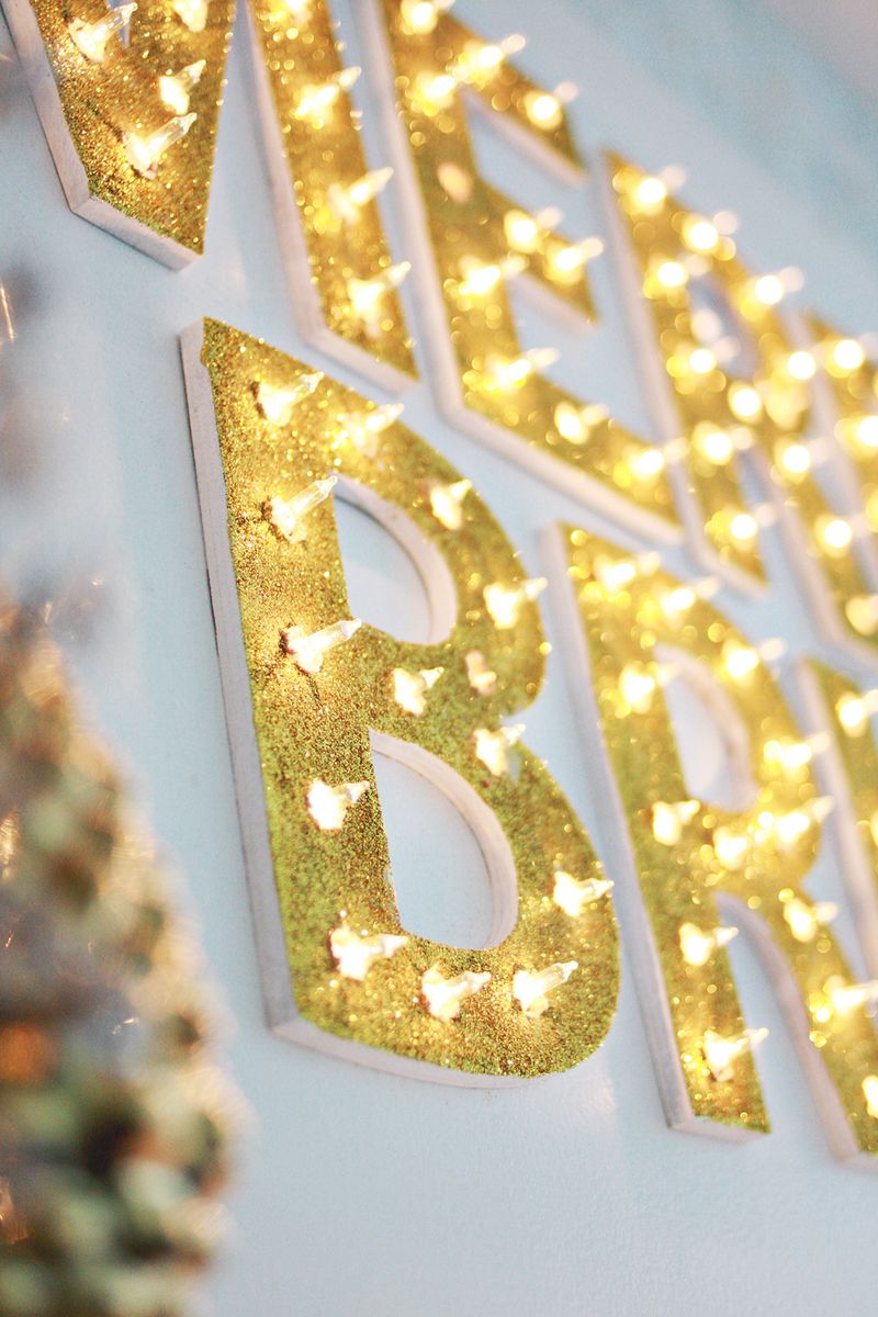 Christmas Light Up Marquee Diy A Beautiful Mess