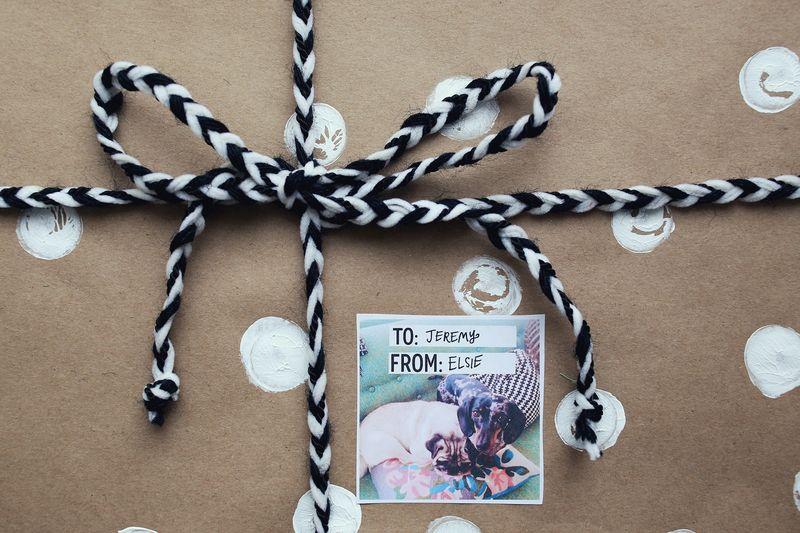 Make gift tags from Instagram photos!