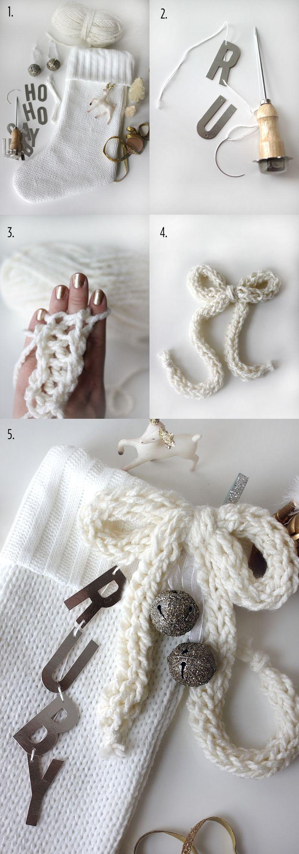 Custom Stocking DIY abeautifulmess.com