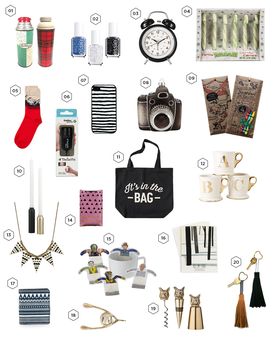 Amazing Christmas Gifts For Her: Gift Guide: 20 Gifts For Him & Her Under $20
