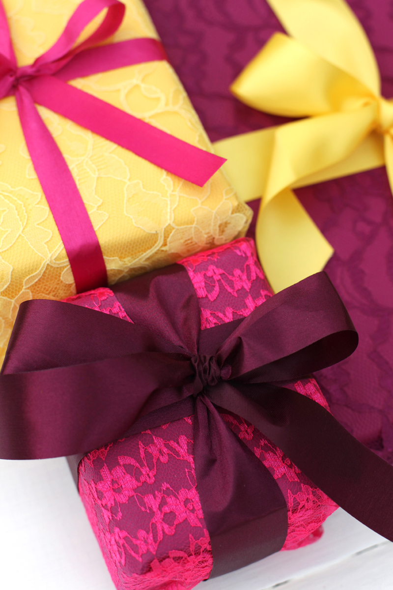 Try This: Wrapping Gifts with Fabric Lace