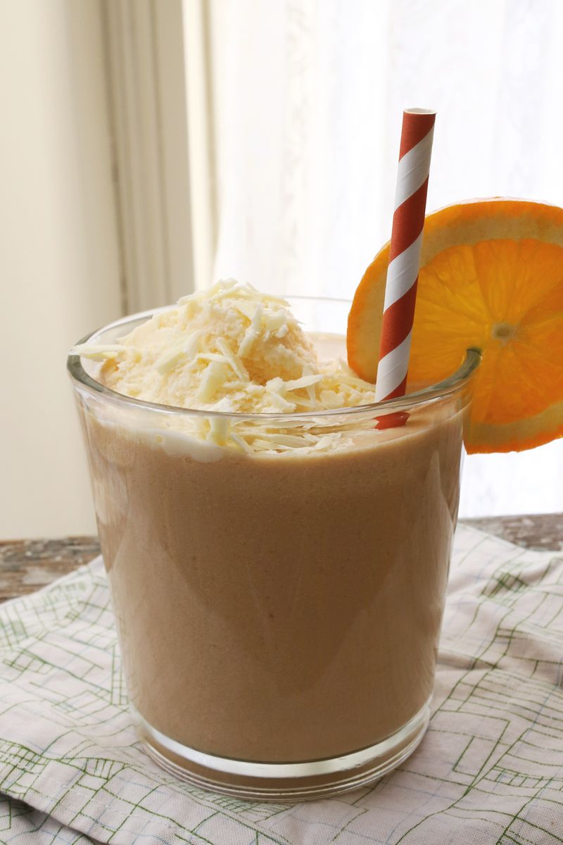 Boozy Orange White Chocolate Float