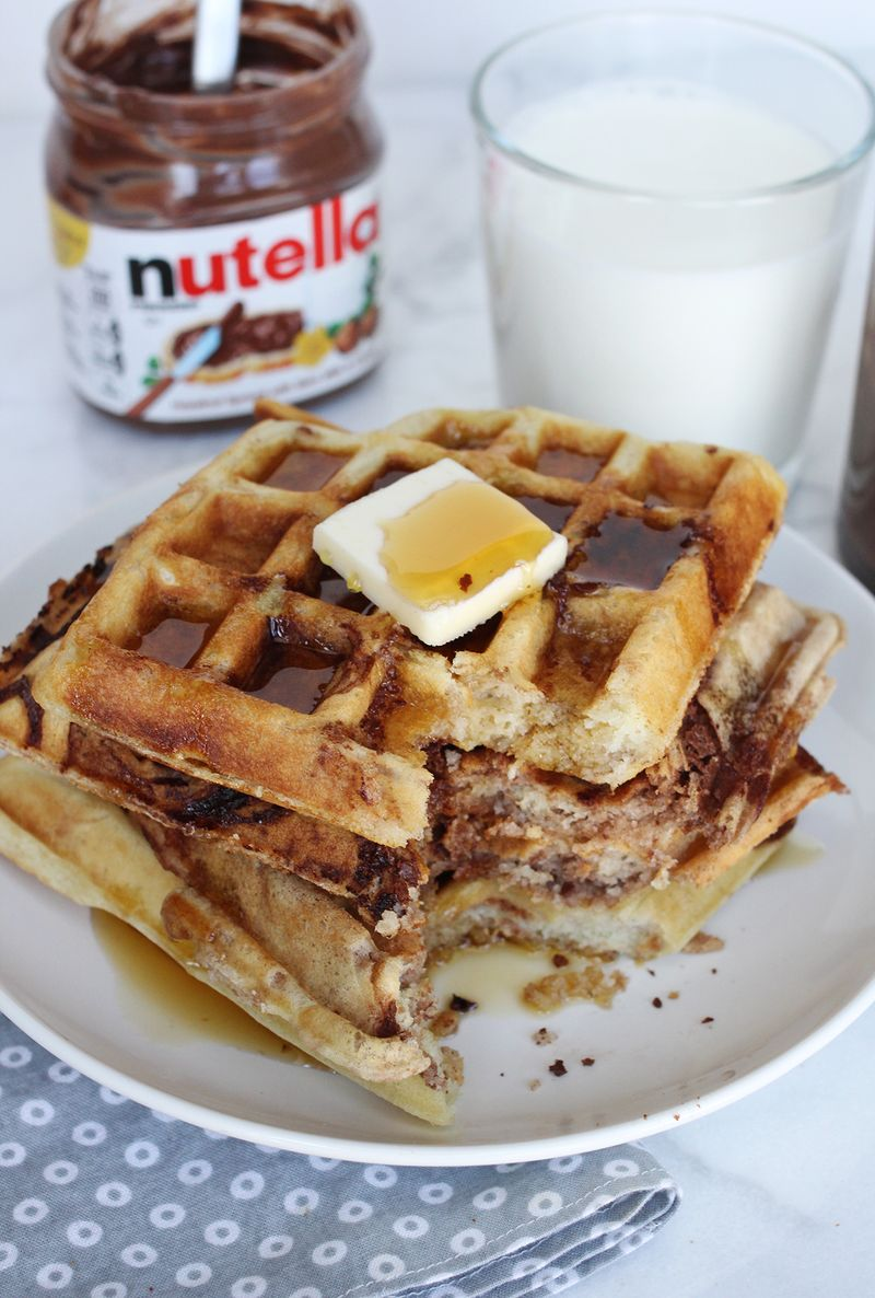 Best Nutella Waffle Recipe on Pinterest