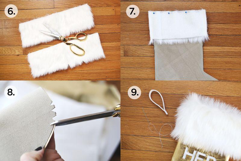 Leather + Fur Stocking abeautifulmess.com