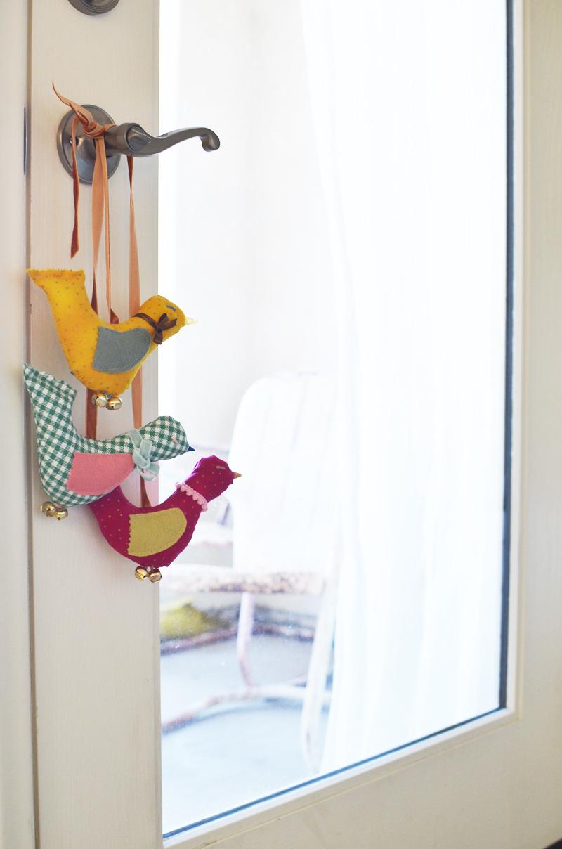 Vintage Inspired Hanging Birds abeautifulmess.com