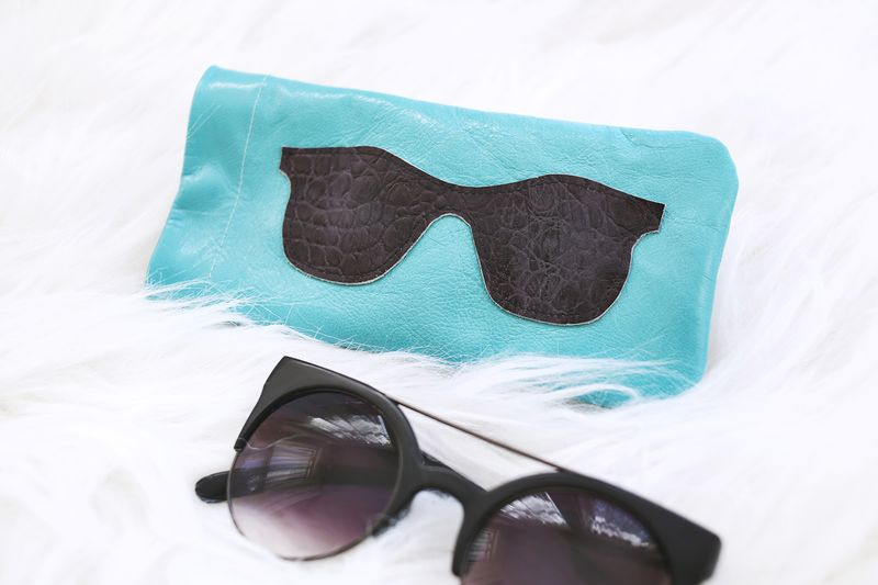 Leather sunglasses holder diy abeautifulmess.com