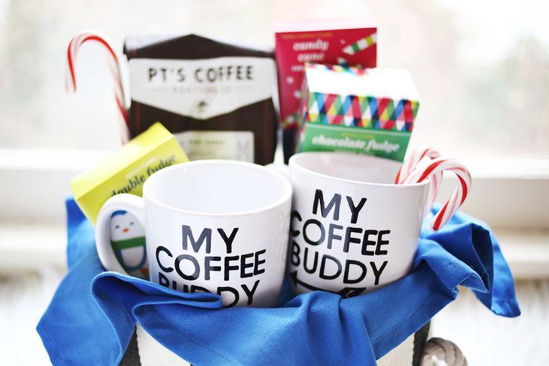 His Hers Coffee Gift Basket Abeautifulmess