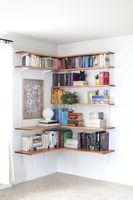 Build & Organize A Corner Shelving System