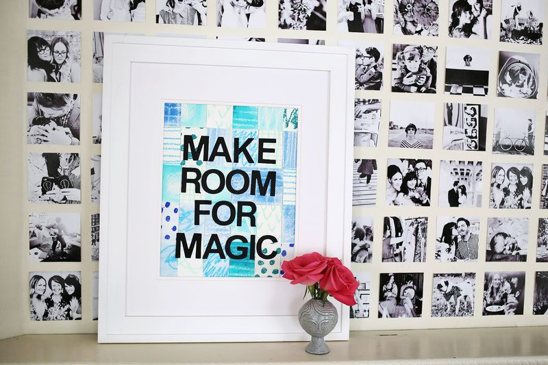 Make Room For Magic DIY wall art