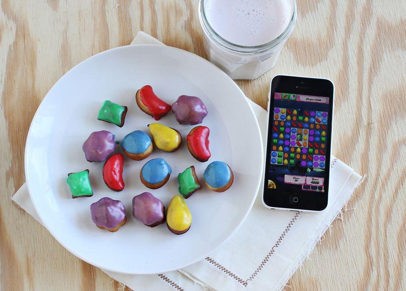 Colorful glazed donut holes