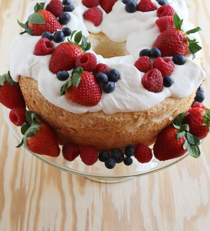 Whipped Cream Angel Food Cake