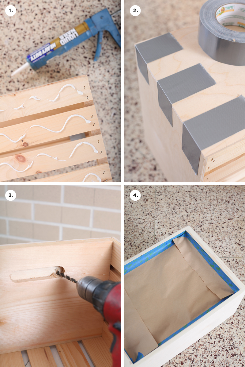 Make your own rolling chalkboard toy box using a crate as a base. Click through for instructions!