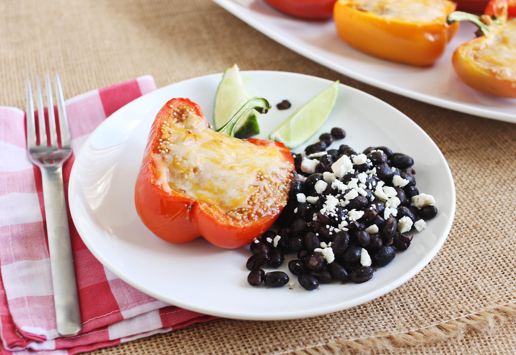 My favorite quinoa stuffed bell peppers