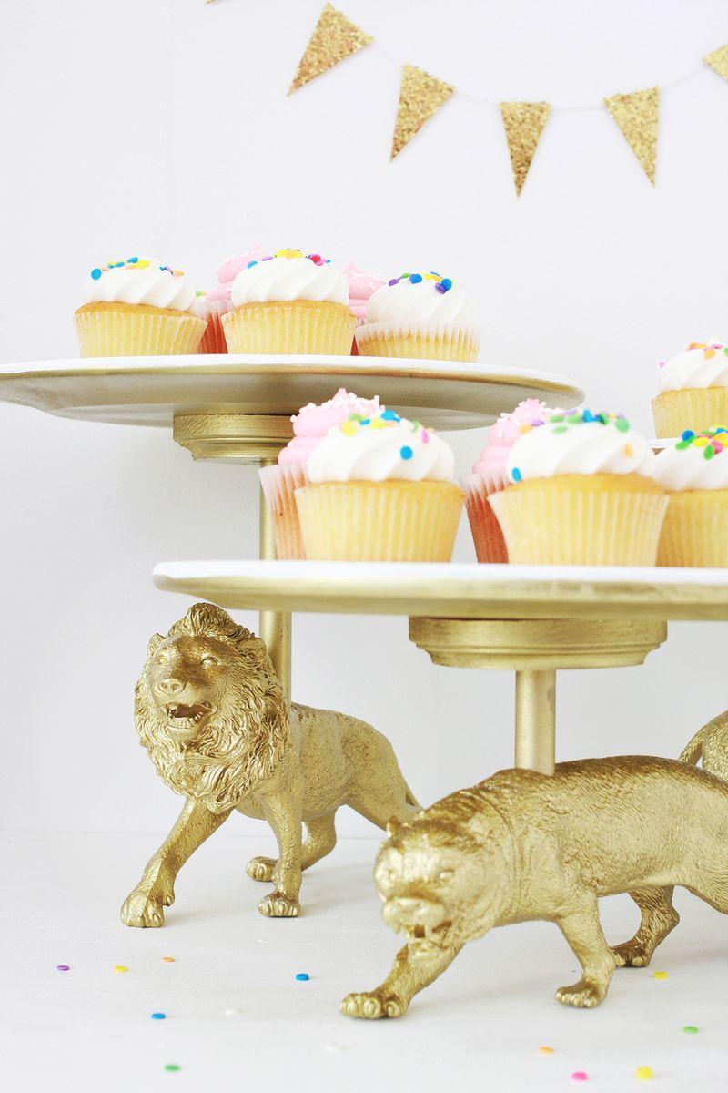 Wild Cat Cake Stand DIY abeautifulmess.com