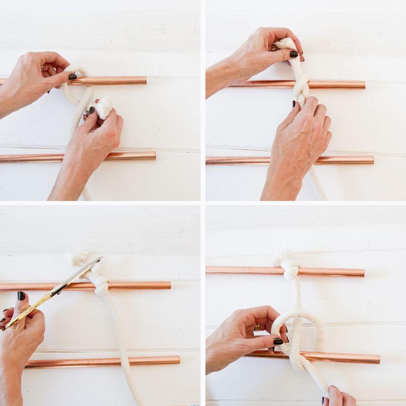 Wall-hanging-tutorial via A Beautiful Mess