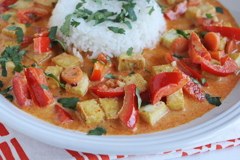 Red Curry with Tofu - A Beautiful Mess