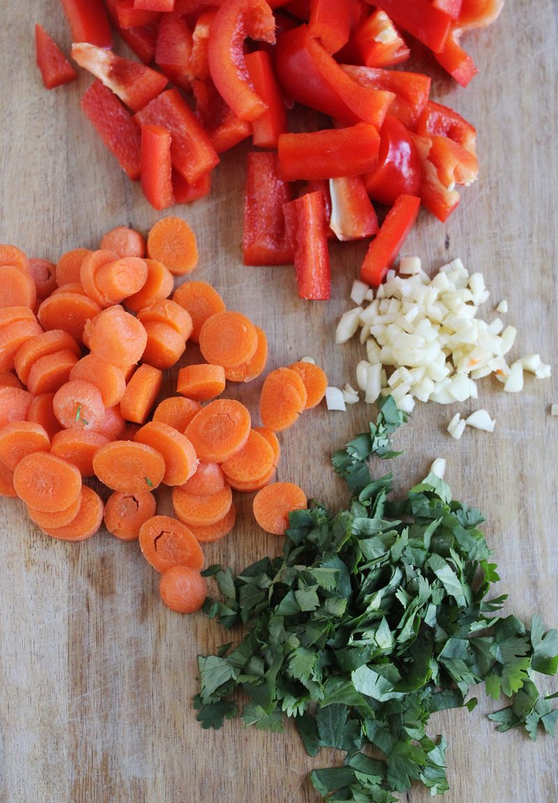 Red curry ingredients