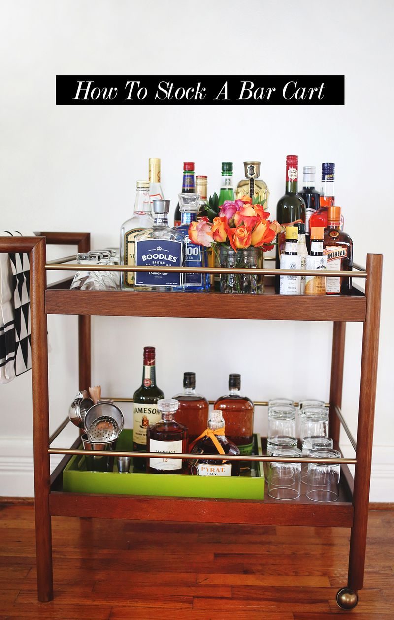 How To Stock A Bar Cart - A Beautiful Mess