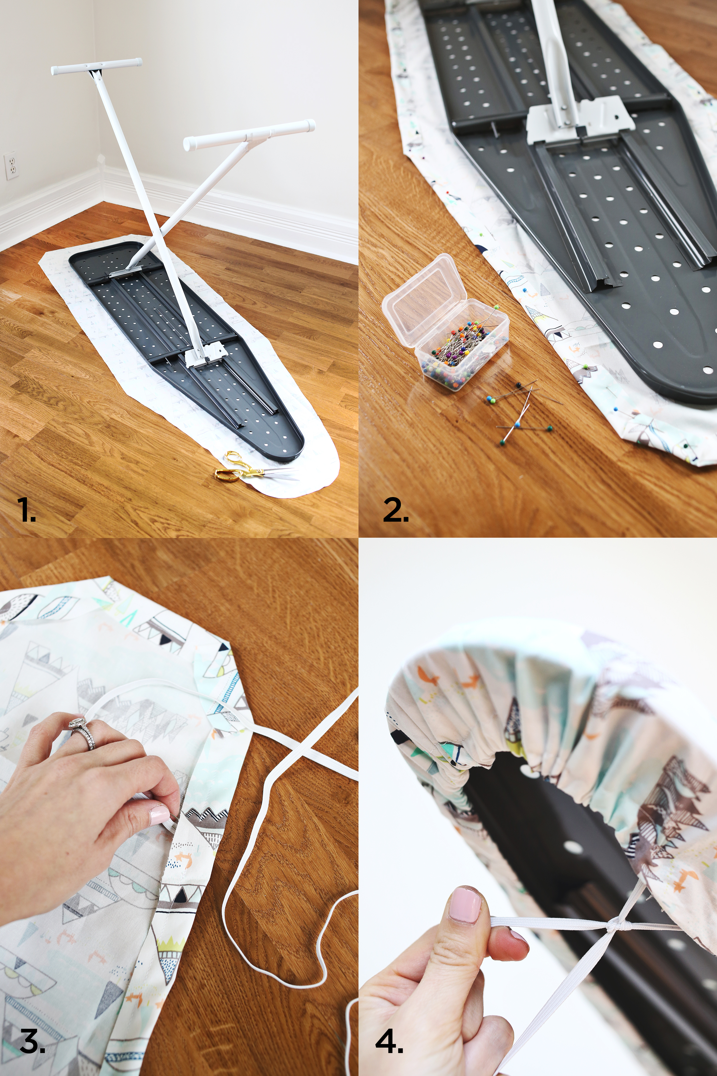 ironing board cover diy a beautiful mess. Black Bedroom Furniture Sets. Home Design Ideas