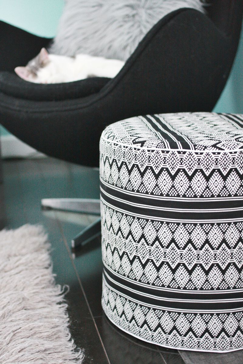 Drum floor pouf diy a beautiful mess drum floor pouf diy abeautifulmess solutioingenieria Choice Image