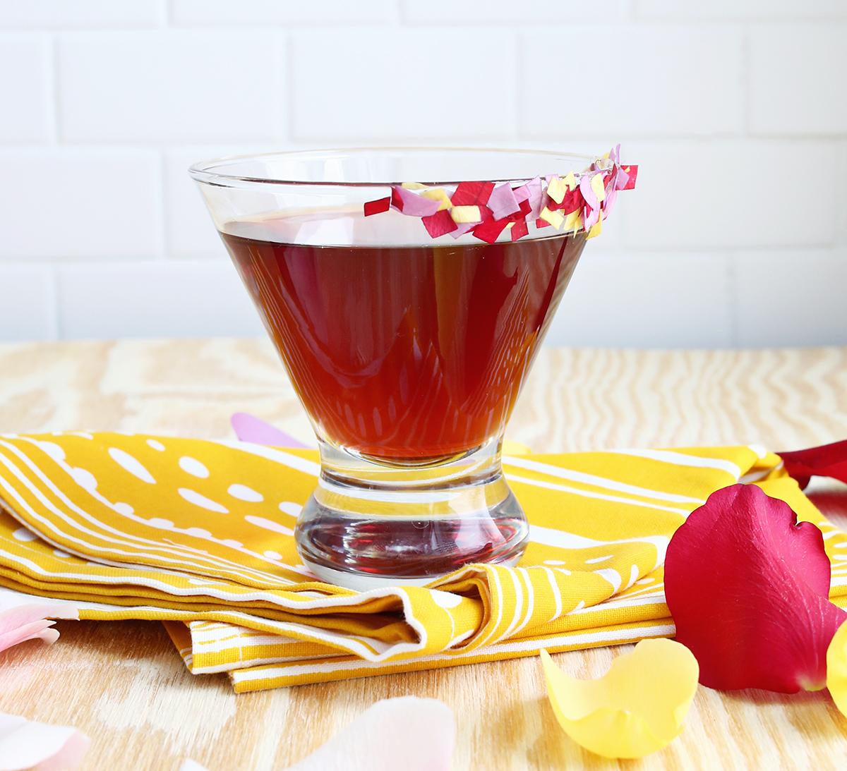 Rose Pomegranate Martini (click through for the full recipe!)