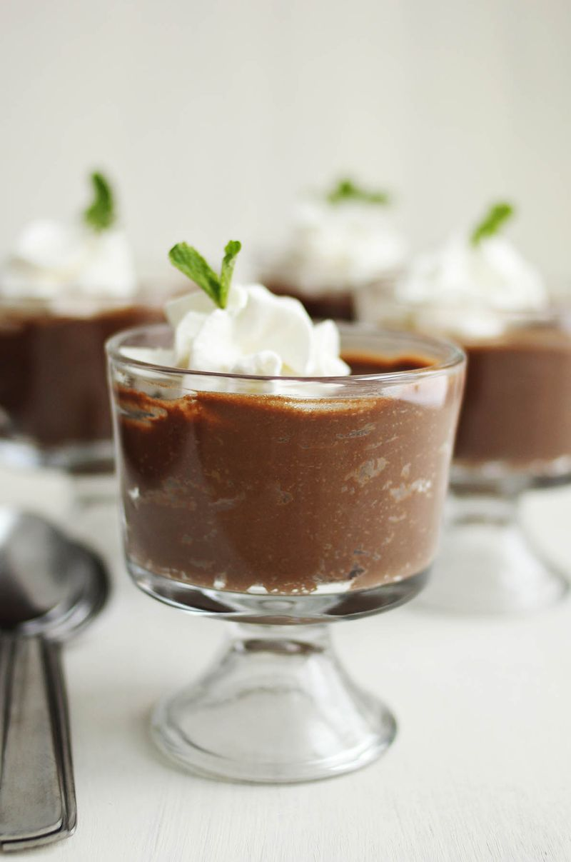 Triple chocolate crockpot custard