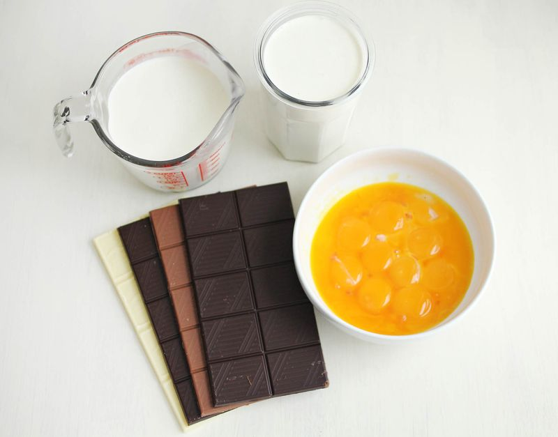 Crockpot chocolate custard