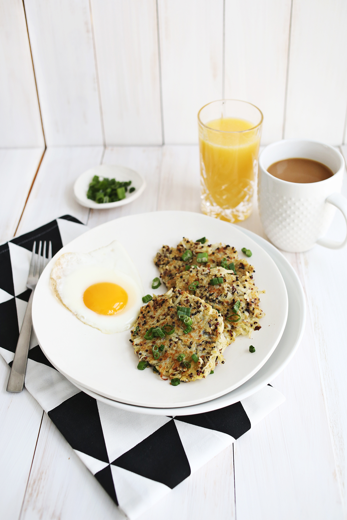 quinoa breakfast hash browns serves 2 adapted from quinoa 365