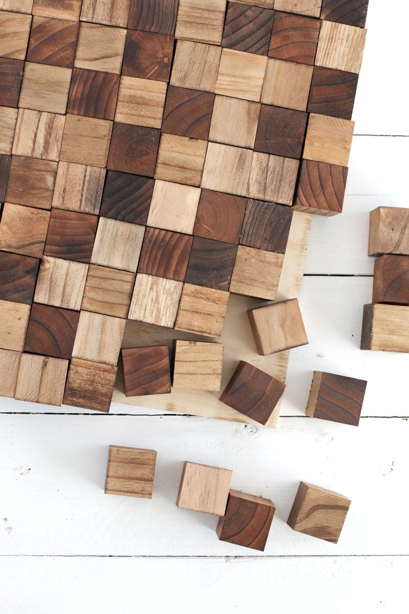 Wood Wall Art Diy wooden mosaic wall art diy – a beautiful mess