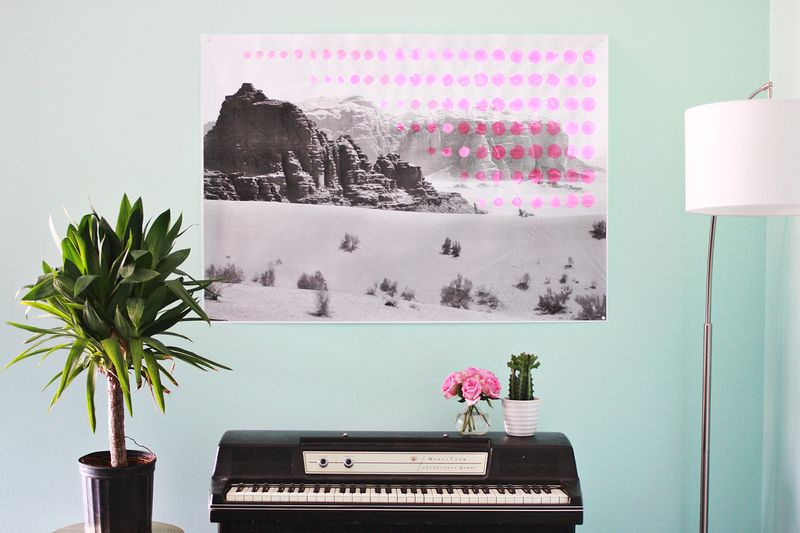Oversized Pop Art Landscape DIY abeautifulmass.com