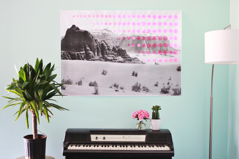 Oversized Pop Art Landscape DIY abeautifulmass.com