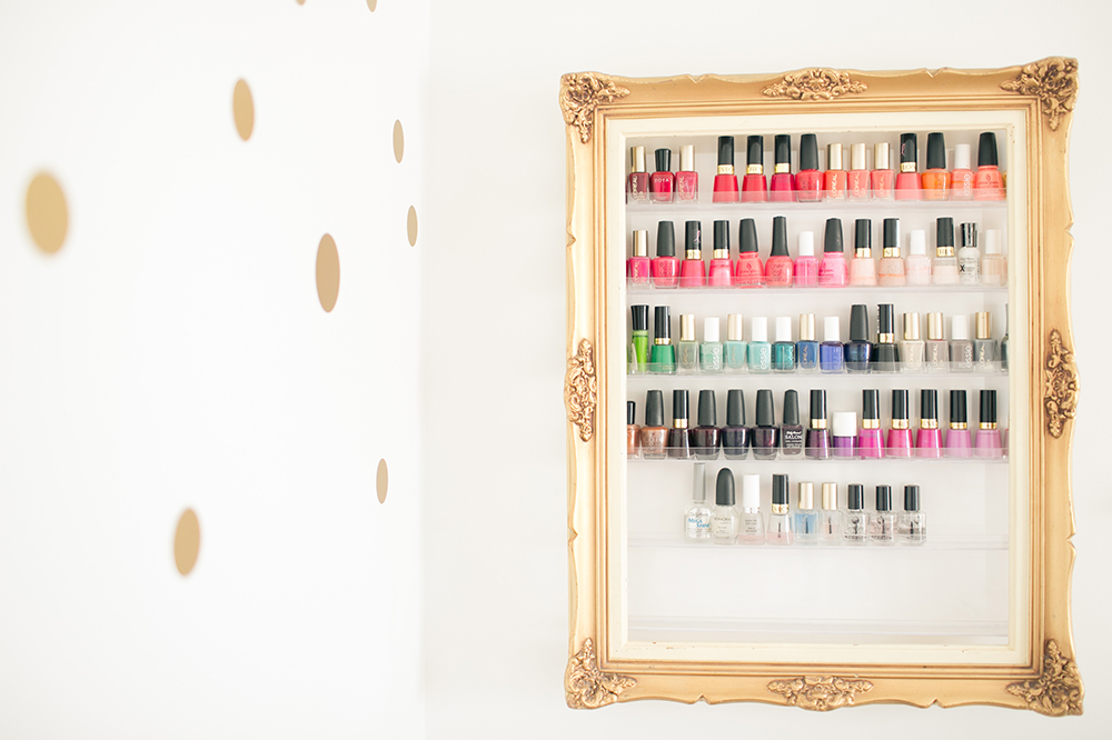 Nail Polish Rack in Office