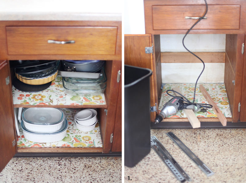 How To Convert A Cabinet Into A Pull Out Trash Bin  Get That Trash