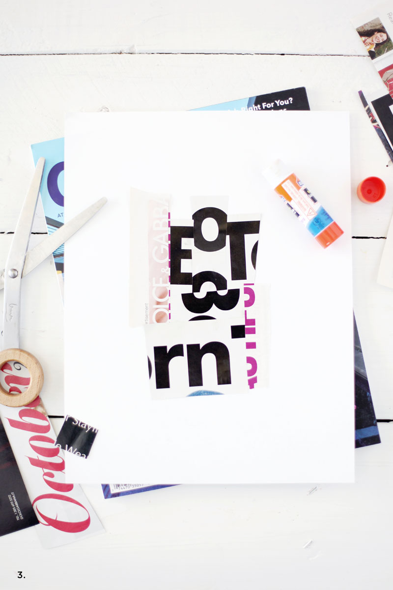 Making your own oversized typographic art is fun, easy, and CHEAP. Click through for instructions!
