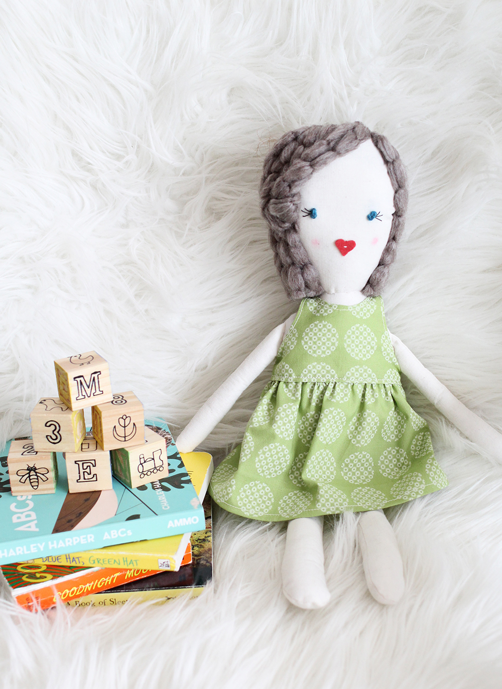 Darling rag doll (just like the kind I use to make with my grandma)