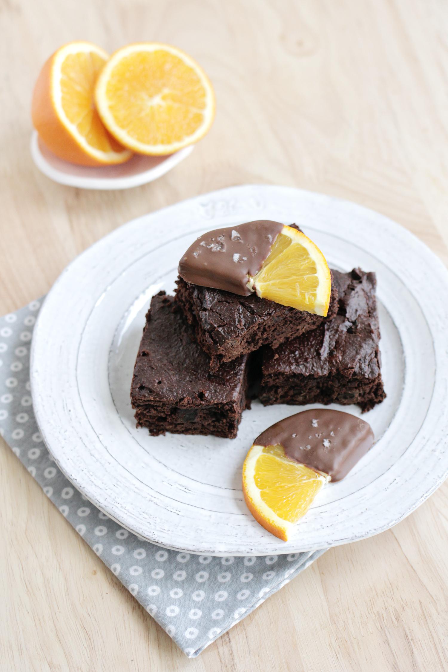 Healthy Chocolate Orange Brownies abeautifulmess.com