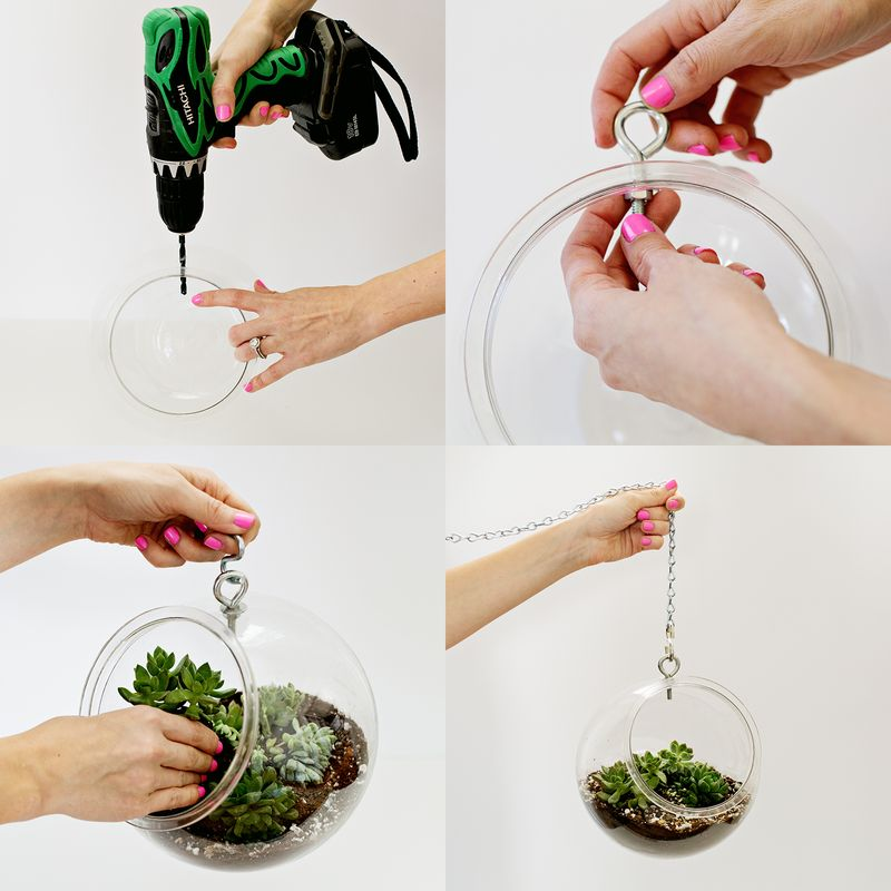 How To Hang A Plant From The Ceiling Without Drilling Pranksenders