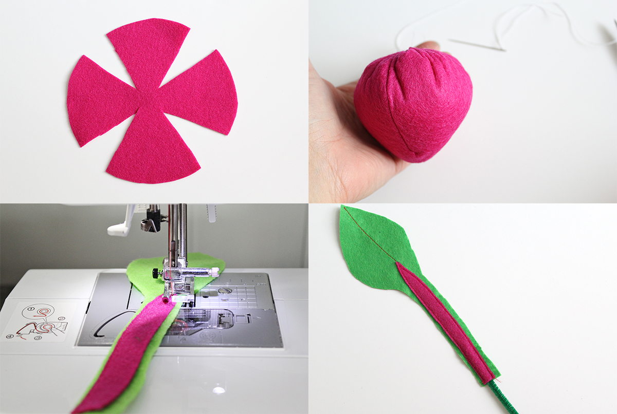 Felt beet for plantable toy garden (click through for full instructions)