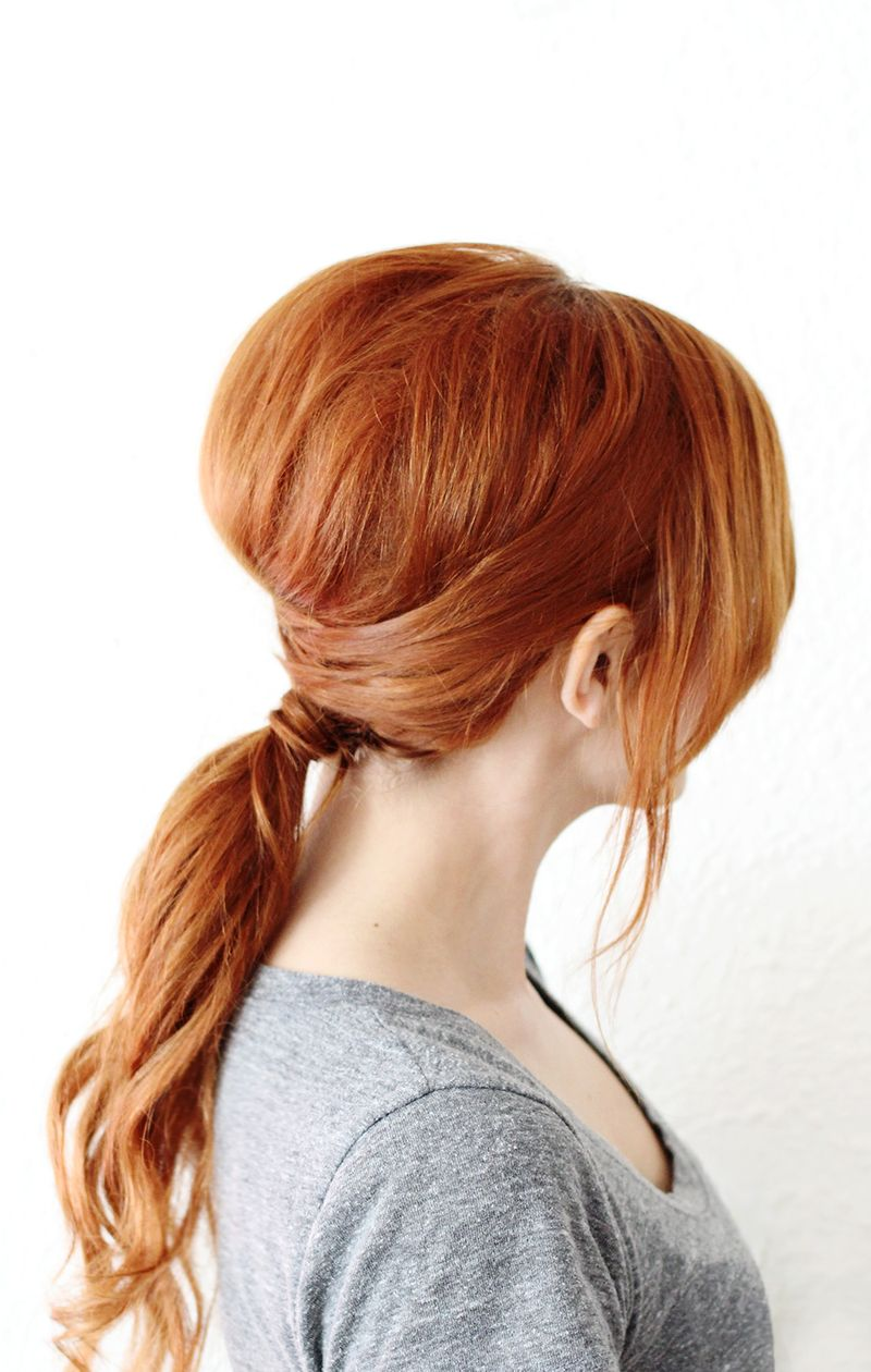 Simple Criss Cross Ponytail (click Through For Full Instructions) ...
